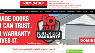 Dominator Citywide Garage Doors